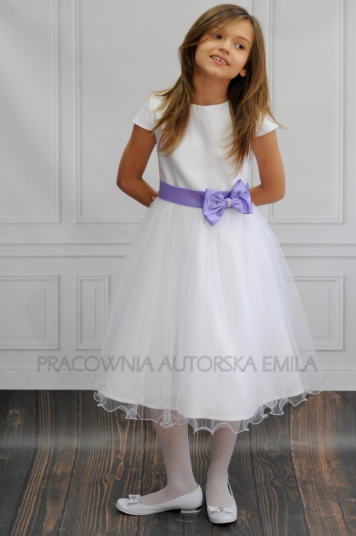 98b36b91a1 Emma Biała sukienka dla druhenki