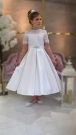 Emma Biała sukienka dla druhenki